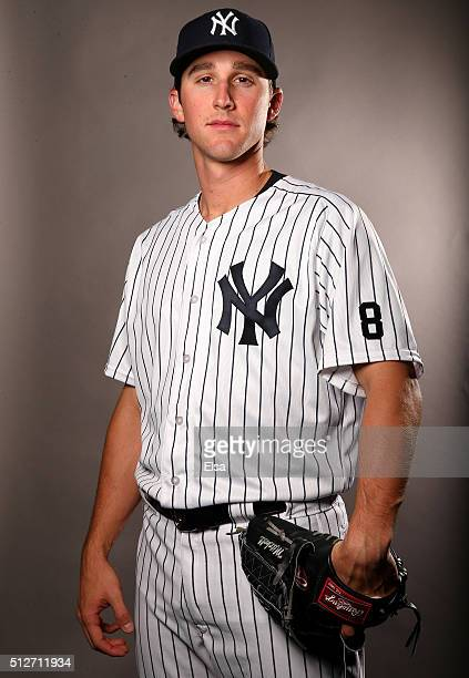 Bryan Mitchell of the New York Yankees poses for a portrait on February 27 2016 at George M Steinbrenner Stadium in Tampa Florida
