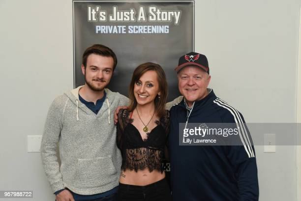 Bryan Morrison Allisyn Ashley Arm and Bob Morrison attend world premiere of Allisyn Ashley Arm's 'It's Just A Story' at Gray Studios on May 12 2018...