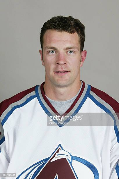 Bryan Muir of the Colorado Avalanche poses for a portrait on September 1 2002 at the Pepsi Center in Denver Colorado