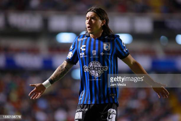 Bryan Olivera of America reacts during the 1st round match between Queretaro and America as part of the Torneo Grita Mexico A21 Liga MX at La...