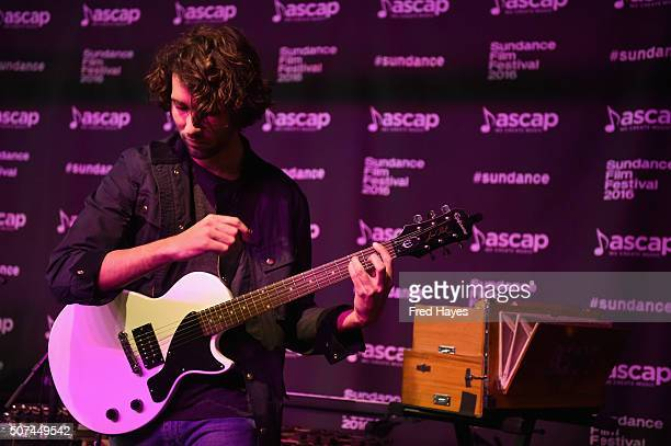 Bryan Osusze of Sibling performs at the ASCAP Music Cafe during the 2016 Sundance Film Festival at Sundance ASCAP Music Cafe on January 29 2016 in...