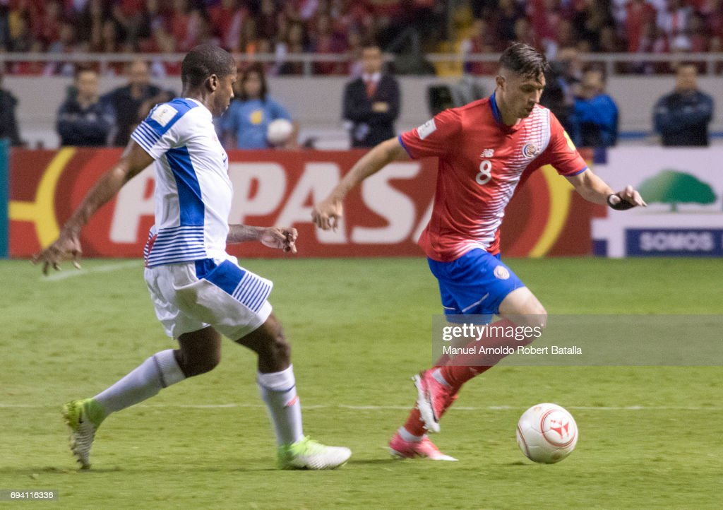 Bryan Oviedo of Costa Rica controls the ball during the match between Costa Rica and Panama as part of the FIFA 2018 World Cup Qualifiers at Estadio Nacional on June 08, 2017 in San Jose, Costa Rica.