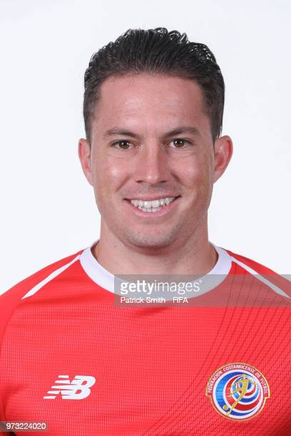 Bryan Oviedo of Costa Rica poses for a portrait during the official FIFA World Cup 2018 portrait session at the Hilton Saint Petersburg ExpoForum on...