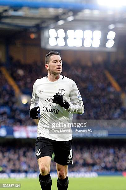 Bryan Oviedo of Everton during the Barclays Premier League match between Chelsea and Everton at Stamford Bridge on January 16, 2016 in London,...