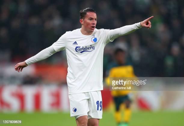 Bryan Oviedo of FC Copenhagen during the UEFA Europa League Round of 32 first leg match between FC Kobenhavn and Celtic FC at Telia Parken on...