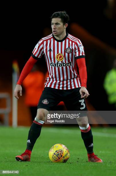 Bryan Oviedo of Sunderland during the Sky Bet Championship match between Sunderland and Reading at Stadium of Light on December 2, 2017 in...
