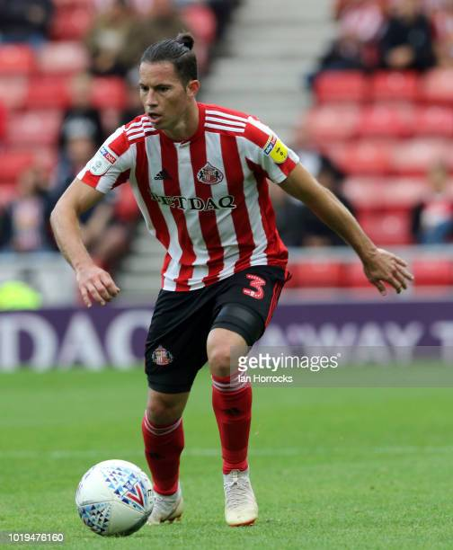 Bryan Oviedo of Sunderland during the Sky Bet League One match between Sunderland and Scunthorpe United at Stadium of Light on August 19 2018 in...
