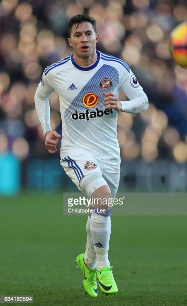Bryan Oviedo of Sunderland in action during the Premier League match between Crystal Palace and Sunderland at Selhurst Park on February 4 2017 in...