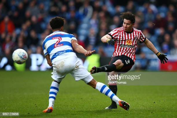 Bryan Oviedo of Sunderland in action during the Sky Bet Championship match between QPR and Sunderland at Loftus Road on March 10, 2018 in London,...