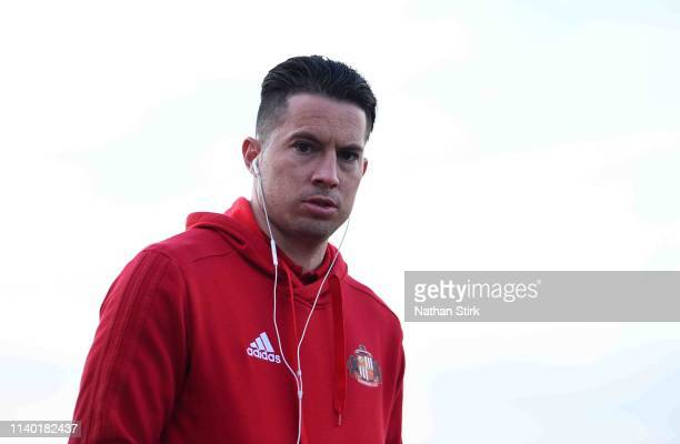 Bryan Oviedo of Sunderland looks on before the Sky Bet League One match between Accrington Stanley and Sunderland at The Crown Ground on April 03,...