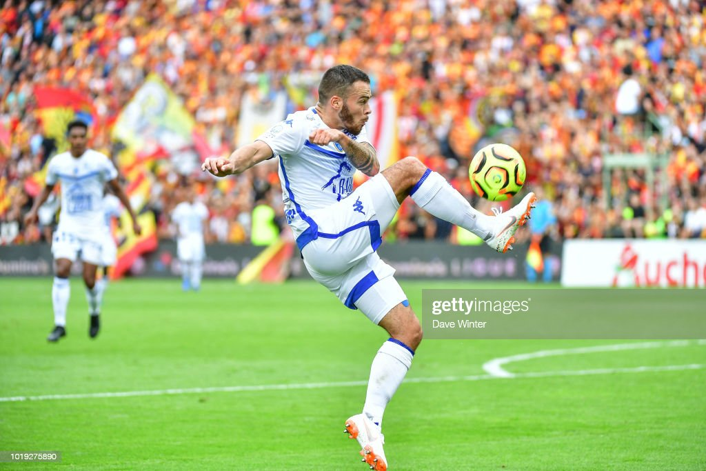 5ce6d88c95a1 Bryan Pele of Troyes during the French Ligue 2 match between RC Lens ...