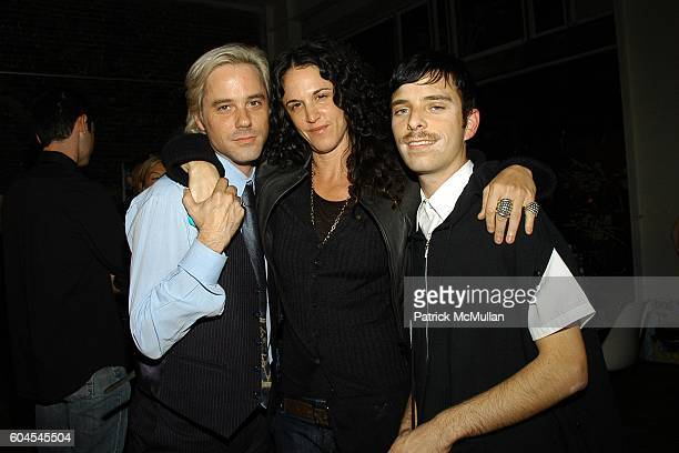 "Bryan Rabin, Amanda Scheer-Demme and Drew Elliott attend Paper's ""It's so LA"" Dinner at Paper Store Front on November 12, 2006 in Hollywood, CA."
