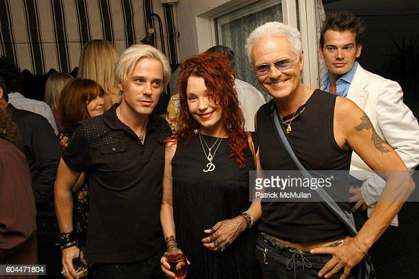 Bryan Rabin Pamela Des Barres and Michael Des Barres attend RABIN RODGERS 5 Year Anniversary Party at Chateau Marmont on August 9 2006 in West...