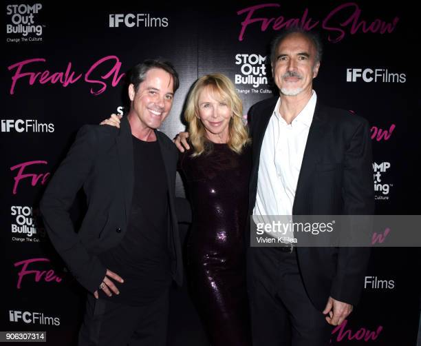 Bryan Rabin Trudie Styler and Jeffrey Coulter attend FREAK SHOW LA Special Screening on January 17 2018 in Los Angeles California