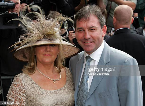 Bryan Robson arrives at Manchester Cathedral for the wedding of footballer Manchester United and England Gary Neville and Emma Hadfield on June 16...