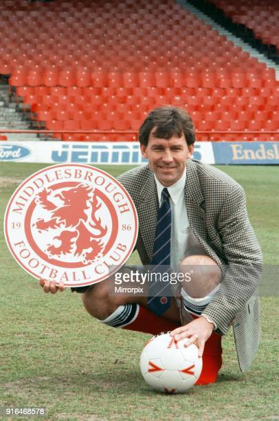 Bryan Robson being unveiled as the new Manager for Middlesbrough FC Ayresome Park, Middlesbrough, 18th May 1994.