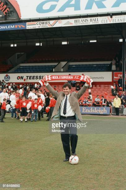 Bryan Robson being unveiled as the new Manager for Middlesbrough FC Ayresome Park Middlesbrough 18th May 1994