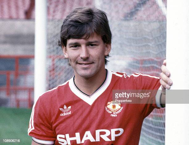 Bryan Robson of Manchester United at Old Trafford Manchester in August 1983