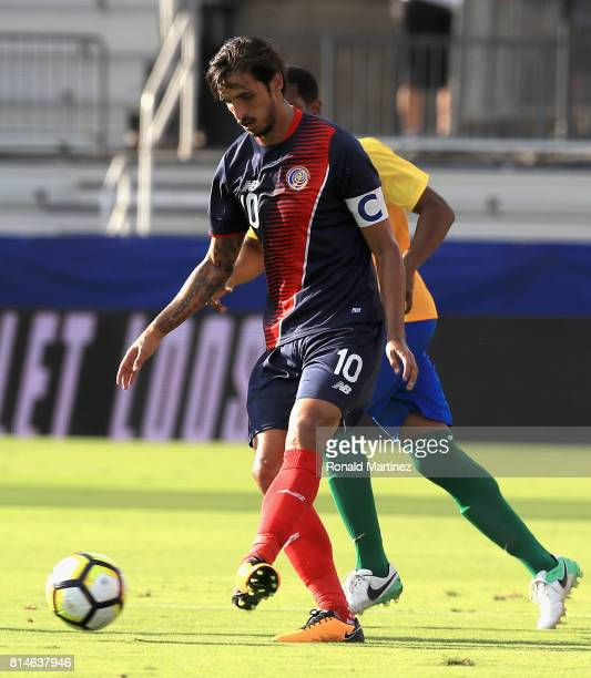 Bryan Ruiz of Costa Rica dribbles the ball against French Guiana during the 2017 CONCACAF Gold Cup at Toyota Stadium on July 14 2017 in Frisco Texas