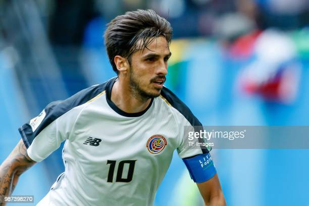 Bryan Ruiz of Costa Rica looks on during the 2018 FIFA World Cup Russia group E match between Brazil and Costa Rica at Saint Petersburg Stadium on...