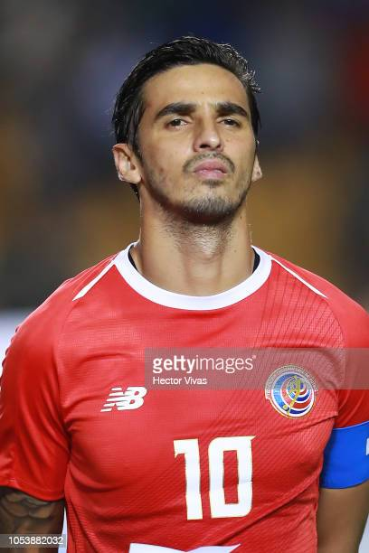 Bryan Ruiz of Costa Rica looks on during the international friendly match between Mexico and Costa Rica at Universitario Stadium on October 11, 2018...