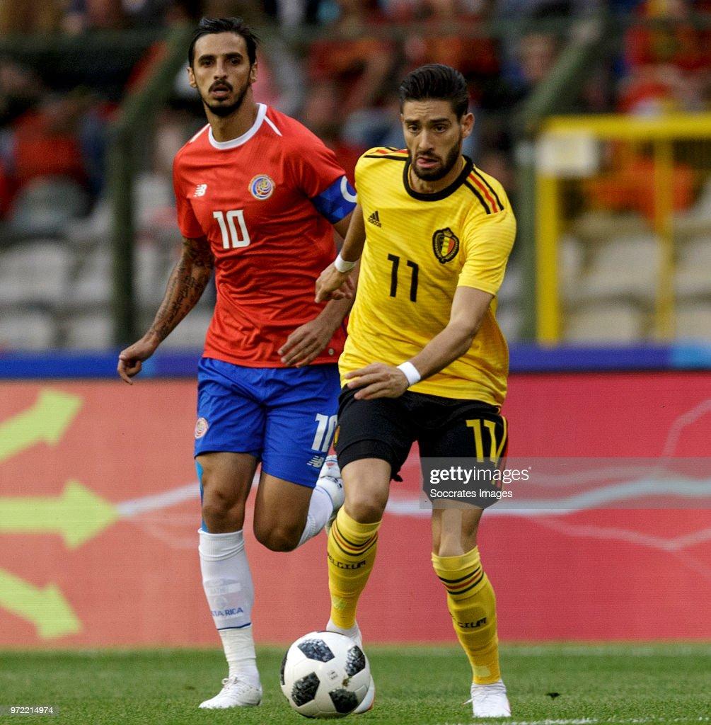 Bryan Ruiz of Costa Rica , Yannick Carrasco of Belgium during the International Friendly match between Belgium v Costa Rica at the Koning Boudewijnstadion on June 11, 2018 in Brussel Belgium