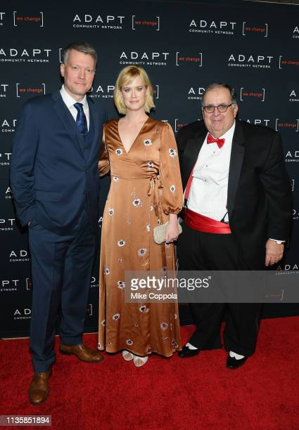 Bryan Spies Abigail Hawk and CEO of ADAPT Community Network Edward R Matthews attend the The 2019 2nd Annual ADAPT Leadership Awards at Cipriani 42nd...