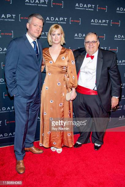 Bryan Spies Abigail Hawk and CEO of ADAPT Community Network Edward R Matthews attend the 2019 Adapt Leadership Awards at Cipriani 42nd Street on...