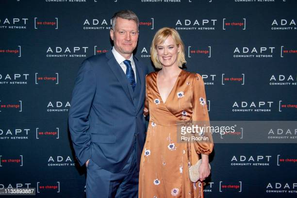 Bryan Spies and Abigail Hawk attend the 2019 Adapt Leadership Awards at Cipriani 42nd Street on March 14 2019 in New York City