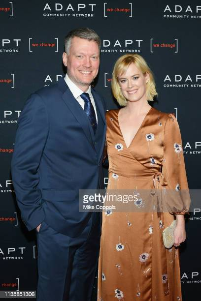 Bryan Spies and Abigail Hawk attend the The 2019 2nd Annual ADAPT Leadership Awards at Cipriani 42nd Street on March 14 2019 in New York City