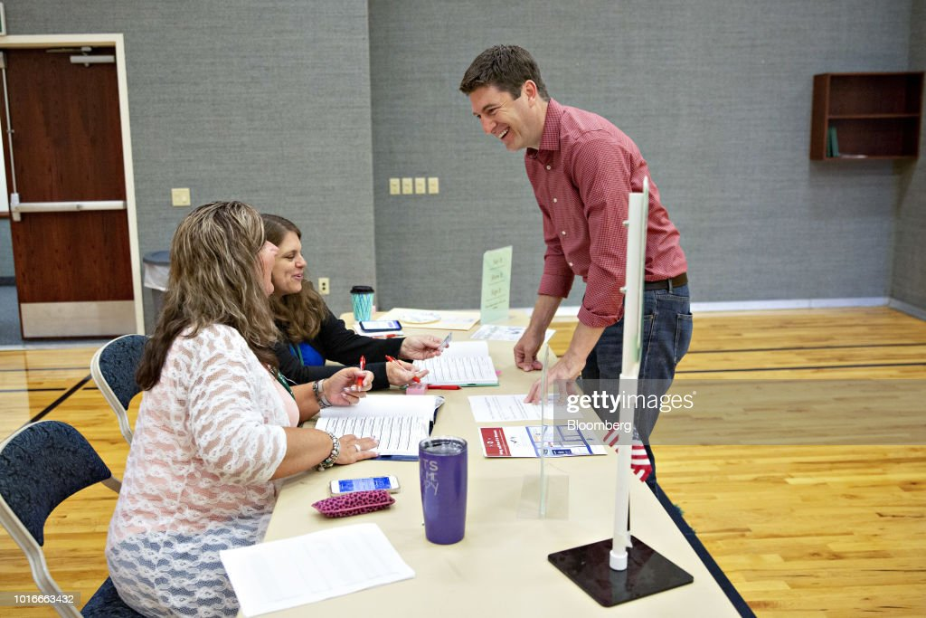 Voters Cast Ballots In The Wisconsin Primary Election