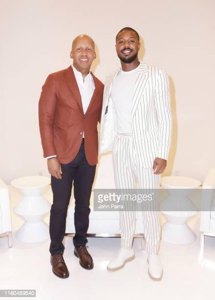 Bryan Stevenson and actor Michael B Jordan attend CNN WarnerBros at NABJ on August 9 2019 in Aventura Florida