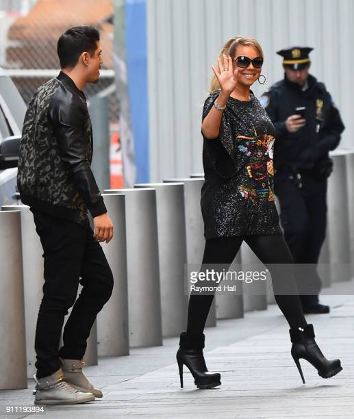 Bryan Tanaka and Mariah Carey are seen arriving at Roc Nation Brunch on January 27 2018 in New York City