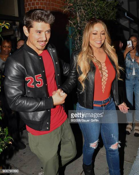 Bryan Tanaka and Mariah Carey are seen on January 17 2018 in Los Angeles California