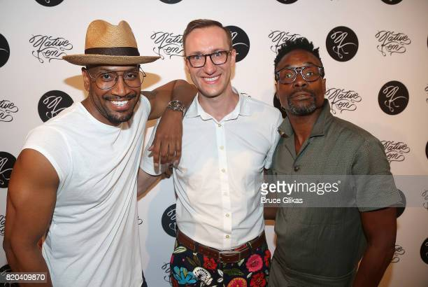 Bryan Terrell Clark Adam Porter Smith and Billy Porter pose at the Native Ken Eyewear NYC Launch Party at Native Ken on July 20 2017 in New York City