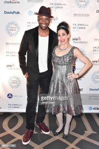 Bryan Terrell Clark and Janet Larose attend Friends of the Children New York hosts An Evening with Friends at The Grand Hyatt New York on April 6...