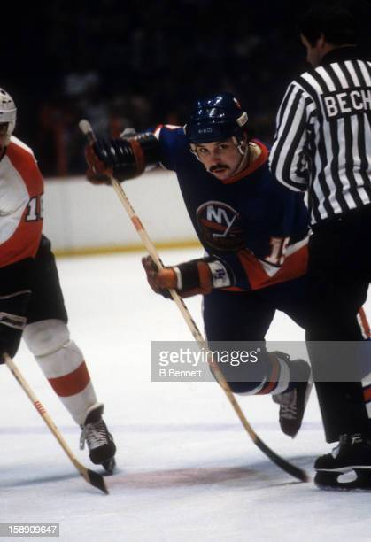 Bryan Trottier of the New York Islanders skates on the ice during an NHL game against the Philadelphia Flyers on January 6 1979 at the Spectrum in...