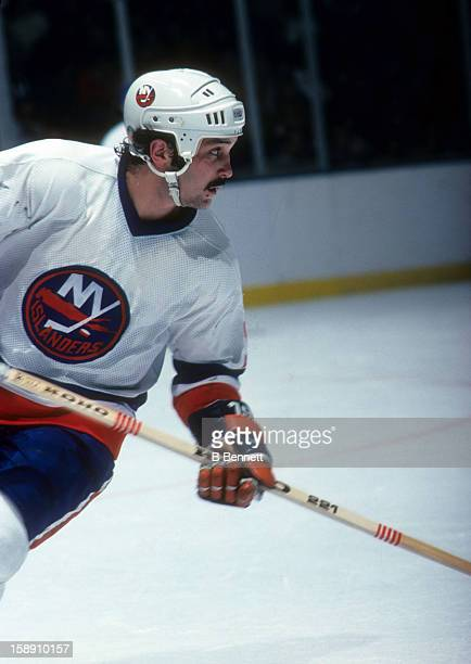 Bryan Trottier of the New York Islanders skates on the ice during an NHL game in November 1978 at the Nassau Coliseum in Uniondale New York