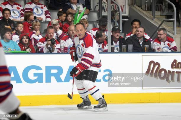 Bryan Trottier skates at the Hockey Hall of Fame Legends Game at the Air Canada Centre on November 8 2009 in Toronto Canada