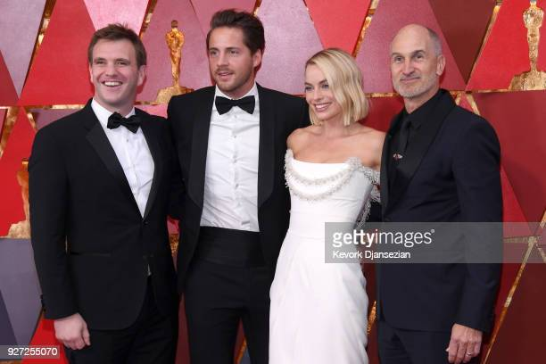Bryan Unkeless Tom Ackerley Margot Robbie and Craig Gillespie attend the 90th Annual Academy Awards at Hollywood Highland Center on March 4 2018 in...
