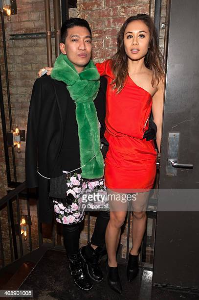 Bryanboy and Rumi Neeley attend the REVOLVE relaunch party on February 11 2014 in New York City