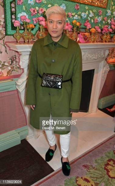 Bryanboy attends the Kurt Geiger and Susie Bubble celebration for the new 'Characterful Style' campaign at Annabel's on February 15, 2019 in London,...