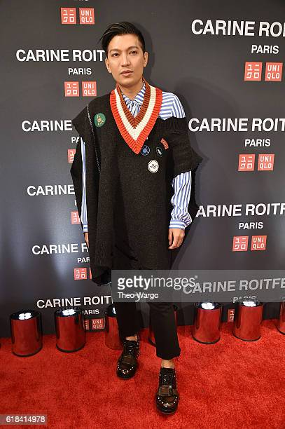 Bryanboy attends the UNIQLO Fall/Winter 2016 Carine Roitfeld collection launch at UNIQLO on October 26 2016 in New York City