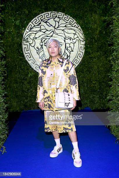 Bryanboy is seen on the front row of the Versace special event during the Milan Fashion Week - Spring / Summer 2022 on September 26, 2021 in Milan,...