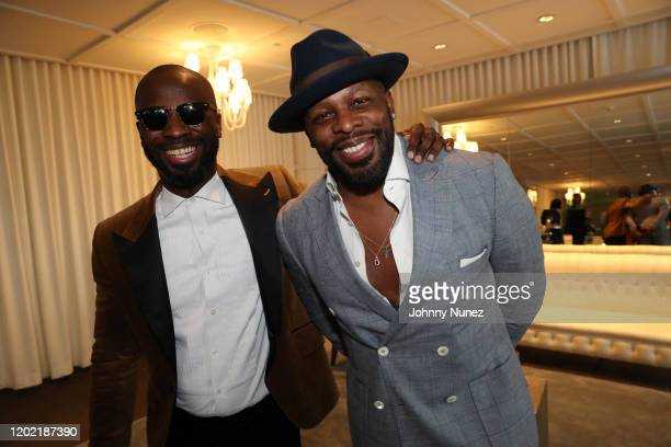 BryanMichael Cox and Joe attend the Bryan Michael Cox 16th Annual Music And Memory PreGrammy Brunch 2020 at SLS Hotel on January 26 2020 in Beverly...