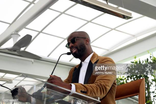 BryanMichael Cox speaks onstage at the Bryan Michael Cox 16th Annual Music And Memory PreGrammy Brunch 2020 at SLS Hotel on January 26 2020 in...