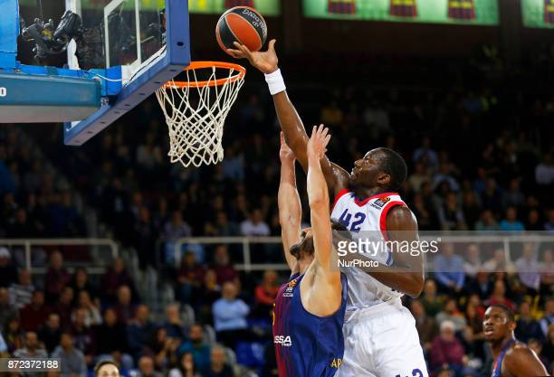 Bryant Dunston and Pau Ribas during the match between FC Barcelona v Anadolou Efes corresponding to the week 6 of the basketball Euroleague in...
