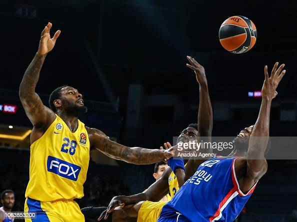 Bryant Dunston Of Anadolu Efes In Action Against Tarik