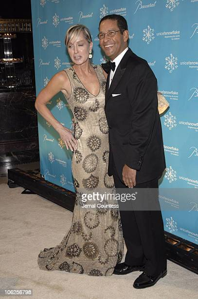 Bryant Gumbal with Hilary Quinlan during Third Annual UNICEF Snowflake Ball Arrivals at Cipriani's in New York City New York United States