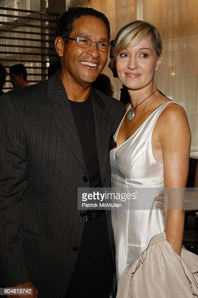 Bryant Gumbel and Hilary Gumbel attend SAPA Celebrity Benefit for PROJECT ALS at SAPA Restaurant on June 12 2006 in New York City